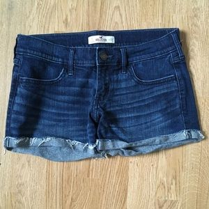 Hollister mid rise jean shorts